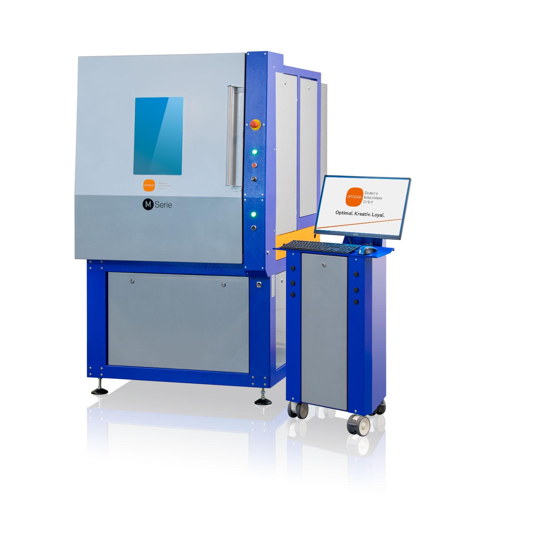Lasersysteme von OPTOGON mit Service- und Wartungsfreundlichem Türkonzept - Die L-Serie mit geschlossener manueller Tür.